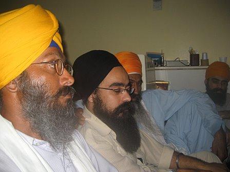 - bhai ranjit singh ji, rajinder singh in middle, bhai choor singh ji n mehtab singh on right