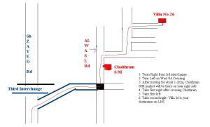 Map to reach Surinder Singh Gouri's house